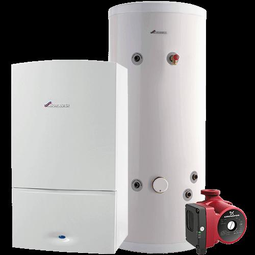 conventional regular boiler installation